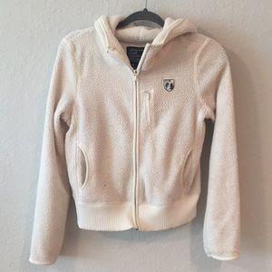 American Eagle Zip Up Teddy Sweatshirt